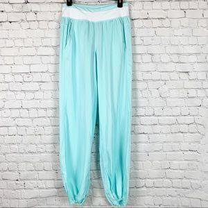 Lululemon Serene Tencel Pants Aquamarine & White